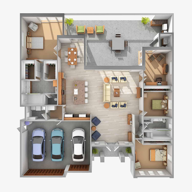 Nautilus – 3 Bedroom 2.5 Bath 3 Car Garage