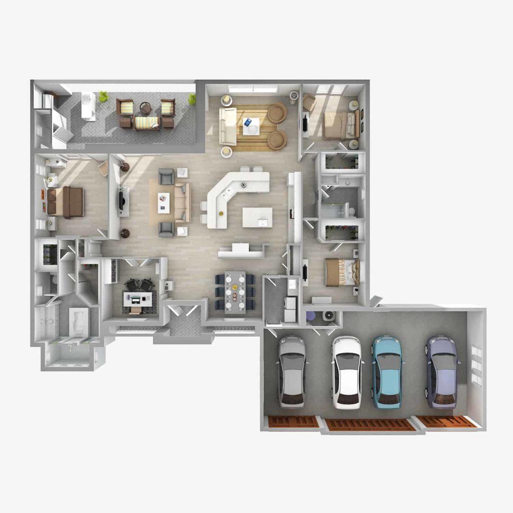 Surfside – 3 Bedroom 2.5 Bath 4 Car Garage