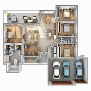 Jacaranda-4-Bedroom-3D-Floor-Plan