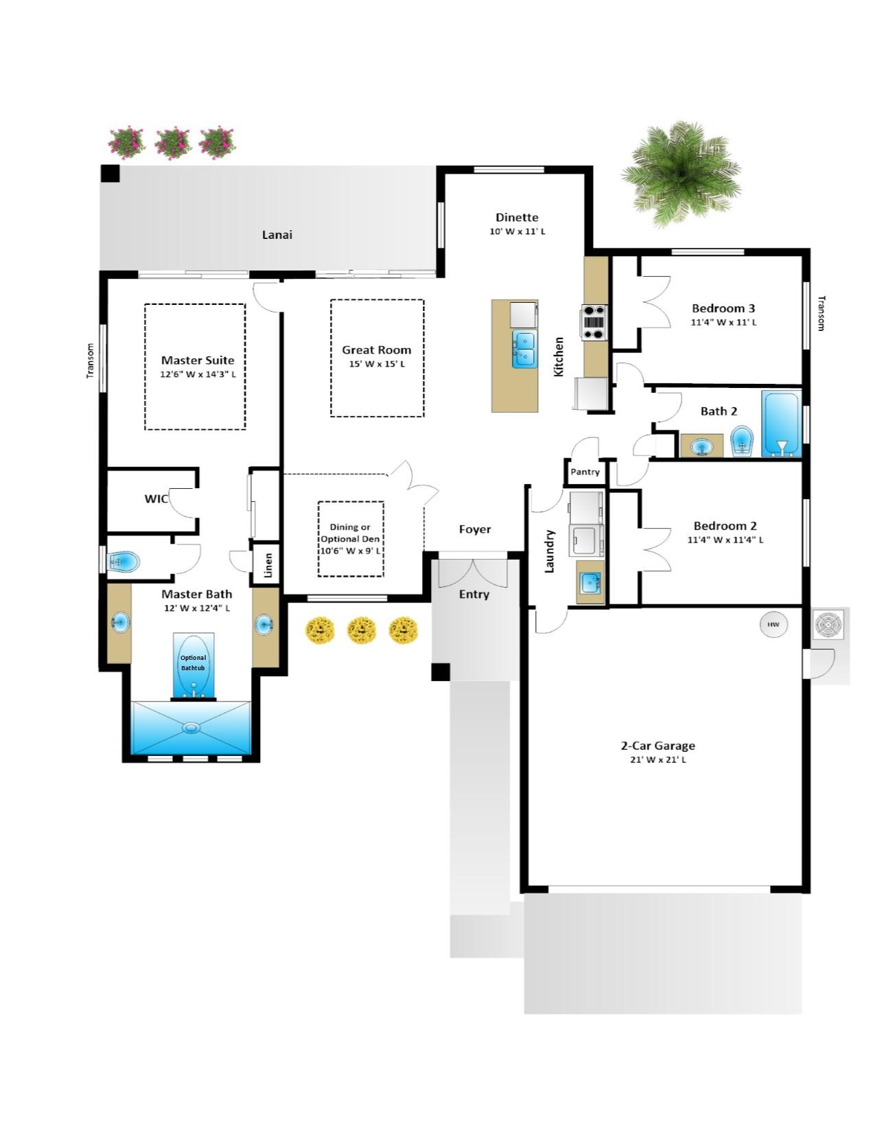 Kismet – 3 Bedroom 2 Bath 2 Car Garage
